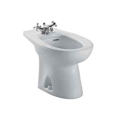 PIEDMONT 1-HOLE CENTER BIDET COLONIAL WHITE