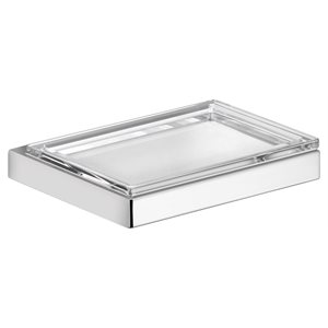 Soap holder | with detachable soap dish | polished chrome