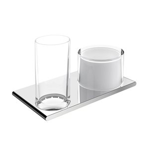 Double holder glass /  lotiondispenser