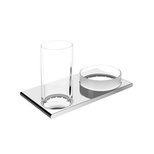 Double holder glass / utensil tray