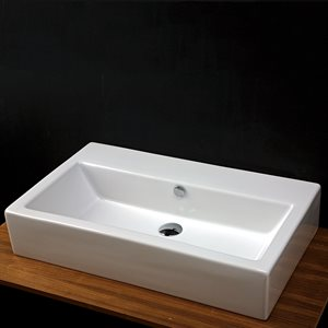 Aquamedia Bathroom Sink  White