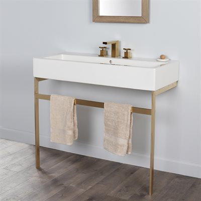 Aquagrande Console Brushed Brass