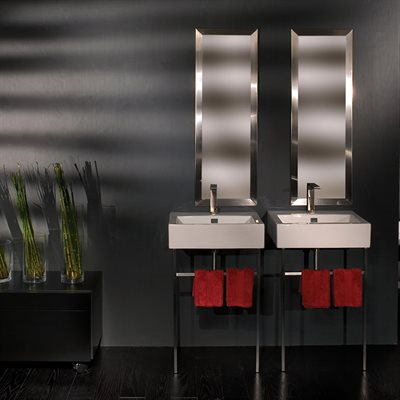 Aquagrande Console Brushed Stainless Steel